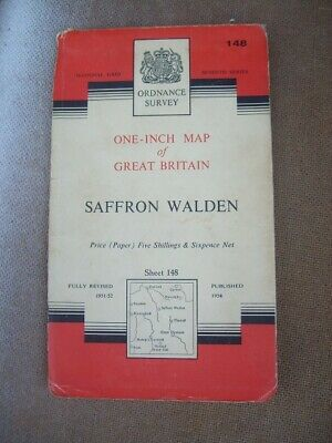 Ordnance Survey Map Seventh Series Sheet 148 Saffron Walden Map 3