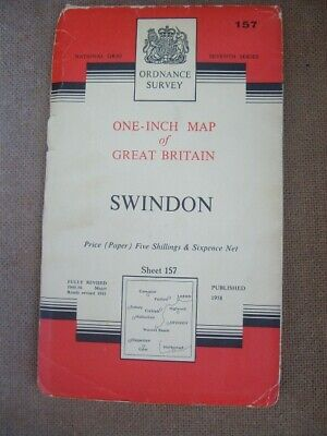 Ordnance Survey Map Seventh Series Sheet 157 Swindon  Number 2