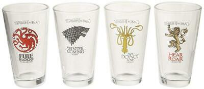 Game of Thrones 4 Pack Pint Glass Set [Stark, Targaryen, Lannister, &...