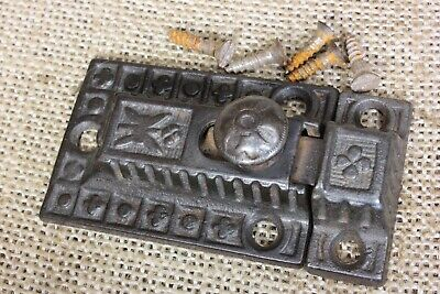 Cabinet catch Cupboard old Latch knob primitive iron butterfly rustic vintage
