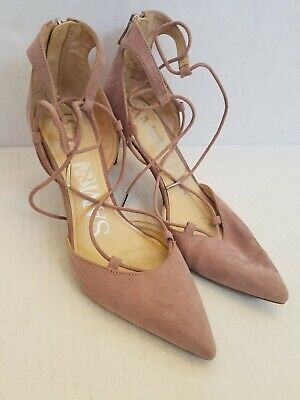 9610e1698f753 SAM & LIBBY Vintage 90s Womens Heels Size 8.5 Gray Pointed Toe 8 1/2 Shoes
