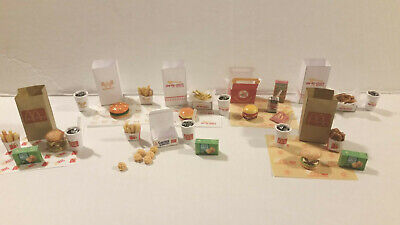 Barbie Doll 1:6 Kitchen Fast Food Miniature McDonalds In & Out Whataburger Meals