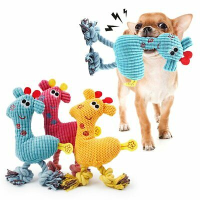 NEW Pet Dog Puppy Chew Toy Squeaker Squeaky Soft Plush Play Sound Toys TU