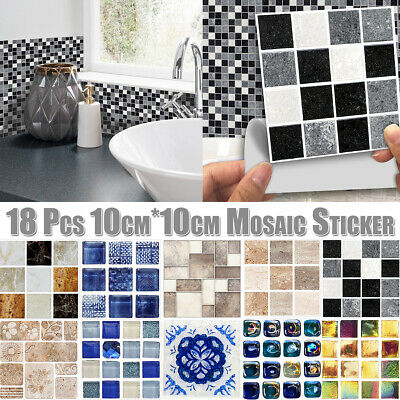 18x Mosaic Tile Stickers Transfers