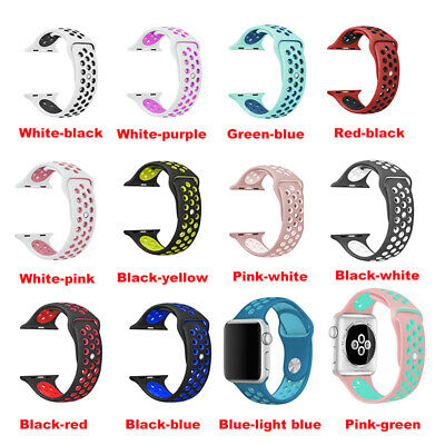 Silicone strap band for apple watch bracelet sport wrist Rubber for Nike 4/3/2/1
