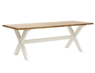 Willis & Gambier Large Trestle Table 220 x 90cm Rustic White RRP £719