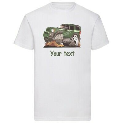Koolart Personalised Green Discovery 4x4 Four Wheel Drive T Shirt Adult Child