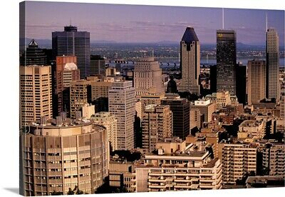"""Canada, Quebec, Montreal. City skyline from Mount Royal Park Observatory"" Ca"