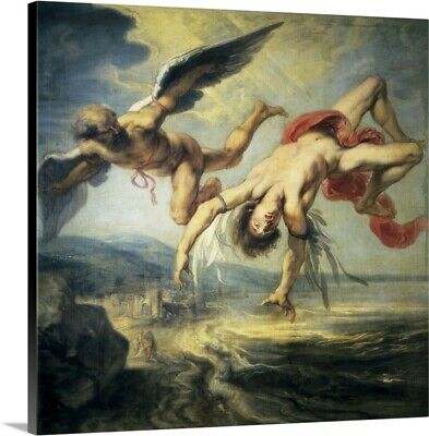 The Fall of Icarus by Jacob Peter Gowy Canvas Art Print