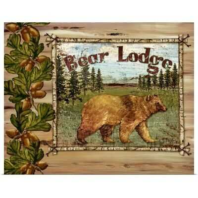 "Poster Print ""Forest Collage - Bear"""