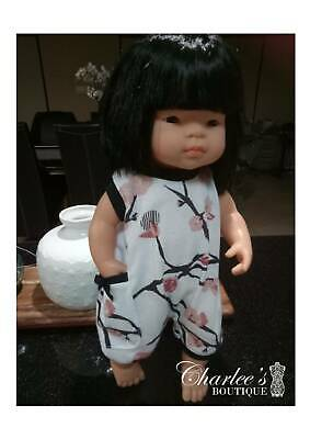38cm Miniland doll jumpsuit (MADE IN PERTH)