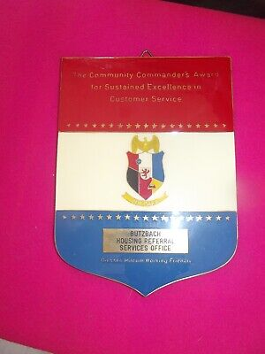 Large Brass Email Plaque Butzbach Housing Referral Service Office Coustumer