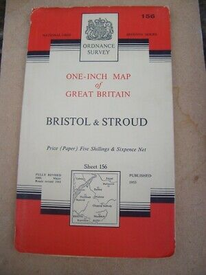 Ordnance Survey Map Seventh Series Sheet 156 Bristol & Stroud