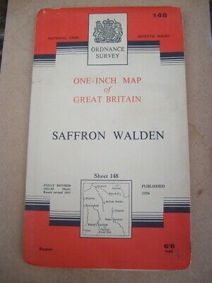 Ordnance Survey Map Seventh Series Sheet 148 Saffron Walden Map 1