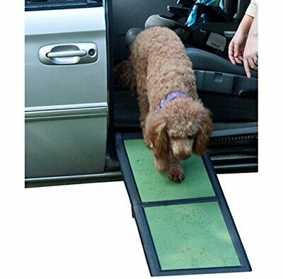 Pet Gear Lite rampa de perro plegable de via(Short Bi-Fold verde)