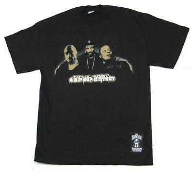 Death Row Records Hip Hop History Black T Shirt New Official NOS Tupac Snoop Dre