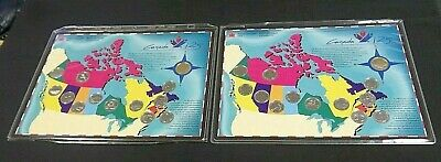 (2) Canada 125Th Anniversary (13) Coin Unc Mint Sets In Ogp    (7760)