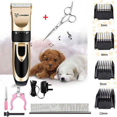 Pet Dog Clipper Grooming Trimmer Animal Hair Professional Electric Shaver Kit SM