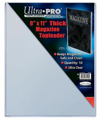 """Ultra Pro 9"""" X 11-1/4"""" Thick Magazine Toploader 10ct,Ultra clear material"""