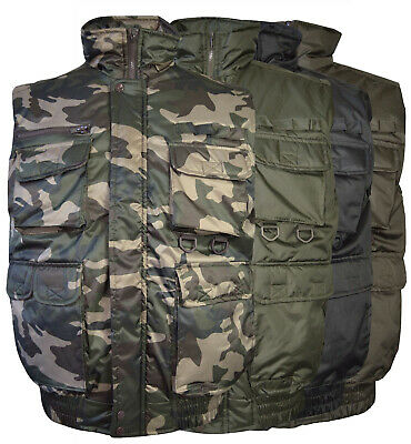 Men's Military Hunting Multi Pocket Fishing Camo Utility Tactical Cargo Vest