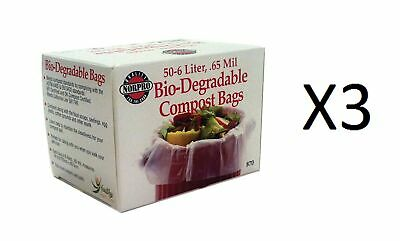 Norpro Bio-Degradable COMPOST BAGS 50count Pail/Bin Refill 6 Liters Bag (3-Pack)
