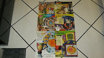 Duncan Ceramic Mold Paper Color Guides 6 Fold Outs