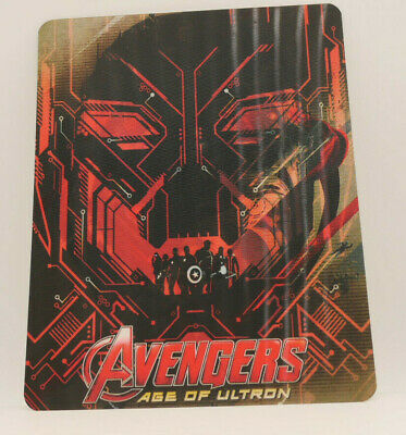 AVENGERS Age Of Ultron - Lenticular 3D Flip Magnet Cover FOR bluray steelbook