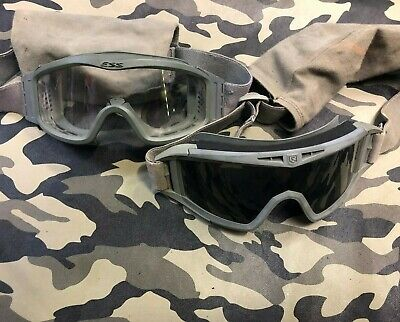 Used Revision Ess Military Goggles Sun Wind Dust Burning Man Foliage Green