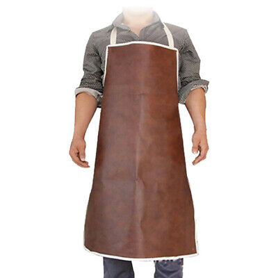Blacksmith Protection Clothes Leather Welder Welding Long Antifouling Apron ad