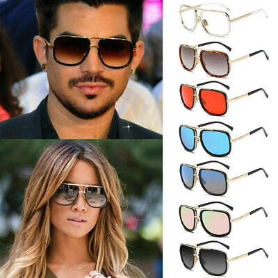 14447d45d699 Mach Oversized Square Aviator Gold Metal Bar Men Designer Fashion Sunglasses