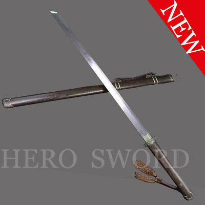 Folded Steel Tang DAO Handmade Traditional Chinese Sword Battle Ready Asian KF