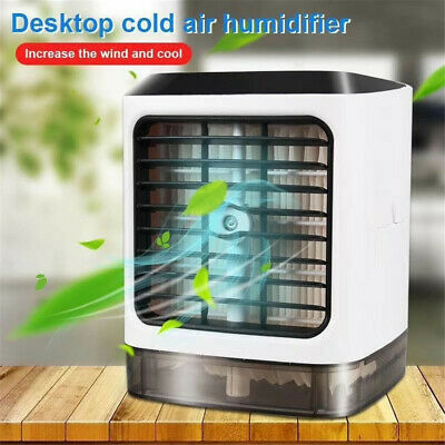 Portable Mini Cooler Fan Air Conditioner Cool Cooling Fan For Bedroom Artic LED