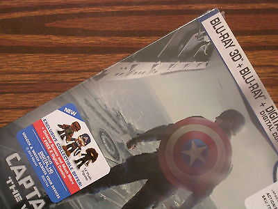 CAPTAIN AMERICA The Winter Soldier 3D  Limited Steelbook Edition ( Best Buy!! )