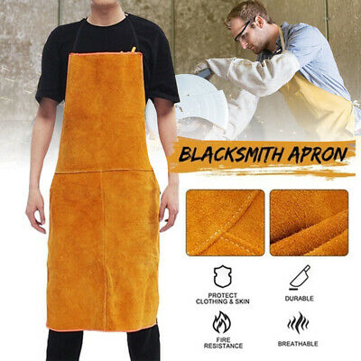 Welder Welding Protective Gear Leather Apron Safety Workwear Blacksmith 60*90cm