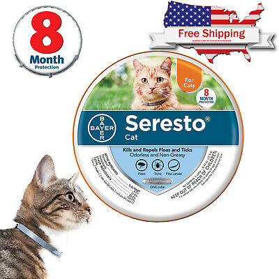Seresto Flea and Tick Collar for Cat 8 Month Protection, Free Shipping Brand New