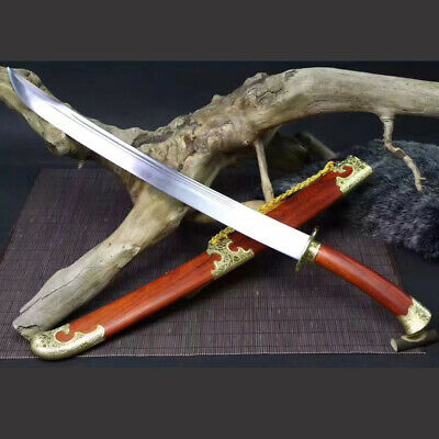 T1060 high carbon steel Chinese sword Red Wood  Qing Dao Broadswords Battle Knif