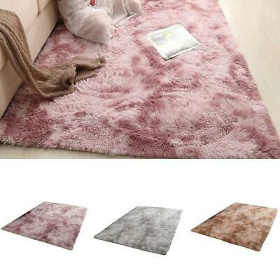 Large Thick Plain Soft Shaggy PILE Rug Living Room Bedroom Floor Carpets