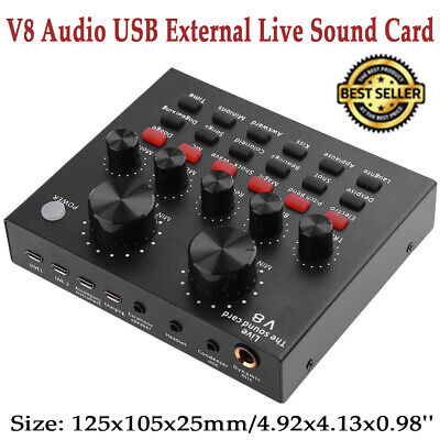 Audio External USB Headset Microphone Live Broadcast Sound Card for Computer PC