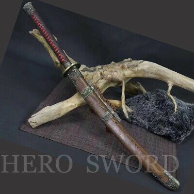 T1095 High Carbon Steel Chinese sword Zhan Ma Dao Battle Ready Broadswords Sharp