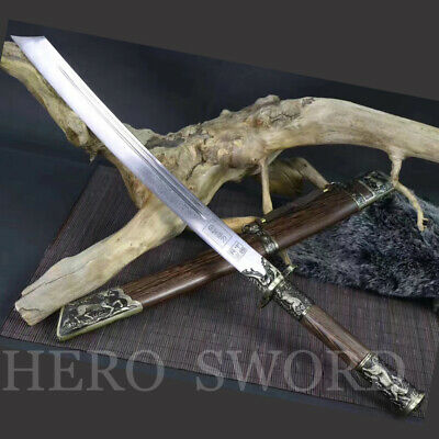 Folded Stee Chinese sword Qing Dynasty KangXI king Dao Battle Ready Broadswords