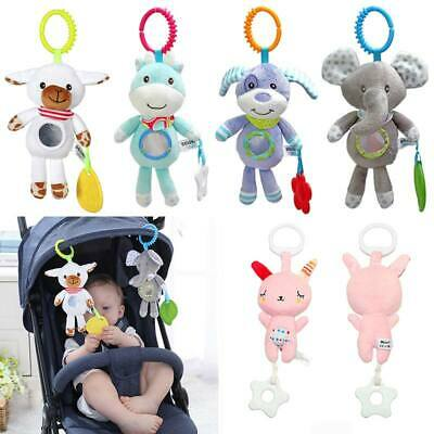 1PC Newborn Baby Bed Stroller Hand Rattles Baby Toys Tinkle Hand Bell Plush Toy