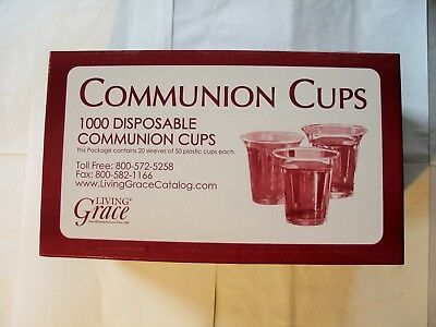 Grace Communion Cups - Box of 1000 - Plastic Disposable Fits Standard Holy Trays