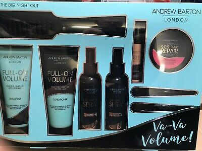 Andrew Barton Va Va Volume Set Shampoo Sprays Frizz Serum Mask Brush Etc Etc