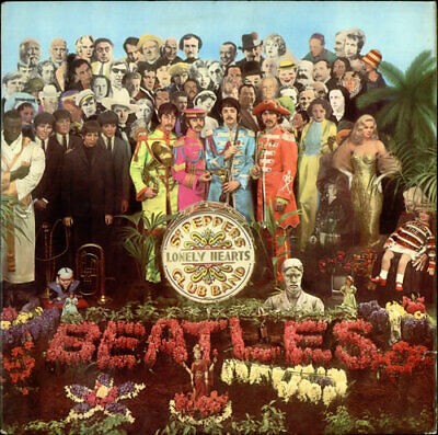 Beatles Sgt. Pepper's - Pathé - EX vinyl LP album record UK PCS7027 PARLOPHONE