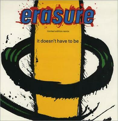 "Erasure 12"" vinyl single record (Maxi) It Doesn't Have To Be - Cement Mix UK"