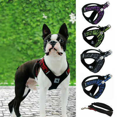No/Non-Pull Dog Harness Pet Puppy Walking Vest Soft padded Chest Strap Belt UK