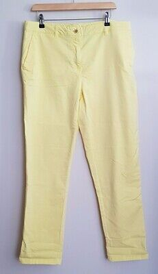 Joules Hesford Chinos, Size 16, Lemon Yellow, NEW