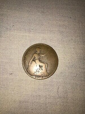 Dated : 1916 - One Penny - 1d - Coin - King George V - Great Britain