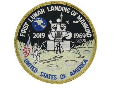 "NASA Apollo 11 50th Anniversary Moon Lunar Landing Space Official 4"" Patch New"