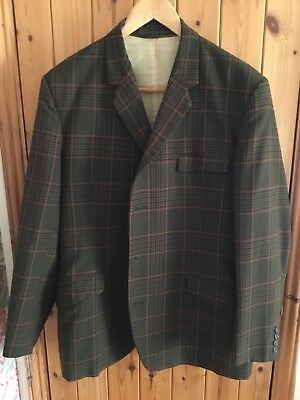 """Vintage HARDY AMIES Tailored By HEPWORTHS Wool Check Jacket And Waistcoat 40"""""""